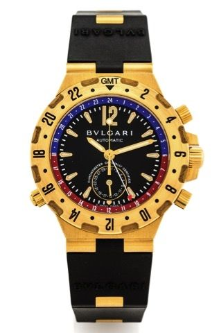 7ab622bc27a BULGARI DIAGONO GMT YELLOW GOLD.Bulgari