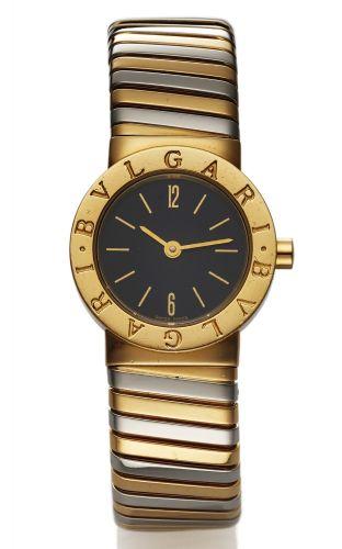 Marque  Bvlgari Very fine, 18K yellow gold lady s quartz wristwatch with  an.18K yellow and white BULGARI Lucea Montre ... 30448768255