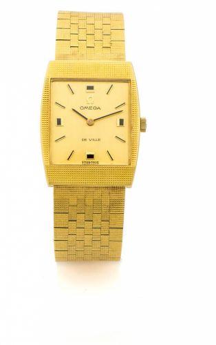7920d14f6c OMEGA DE VILLE YELLOW GOLD A fine manual-winding 18K yellow gold wristwatch.
