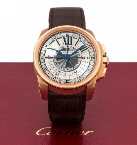 4a5e8b710b3 CARTIER CALIBRE DE CARTIER REF. 3300 PINK GOLD  NEW OLD STOCK  A very fine  self-winding 18K pink gold wristwatch with date.