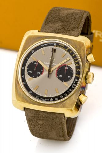 48f4d78c07af FAVRE LEUBA CHRONOGRAPH A fine and new old stock manual wind gold-plated  chronograph wristwatch.