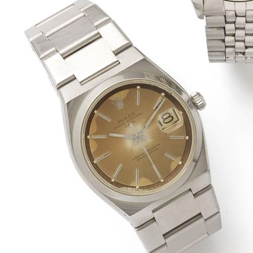 317baeacb18 Rolex. A rare stainless steel automatic bracelet watch. Description : Oyster  Perpetual Date, Ref:1530 ...