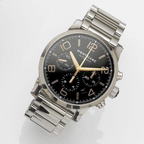 01c544f1d856b Montblanc. A stainless steel automatic calendar chronograph bracelet watch.  Description   Timewalker ...