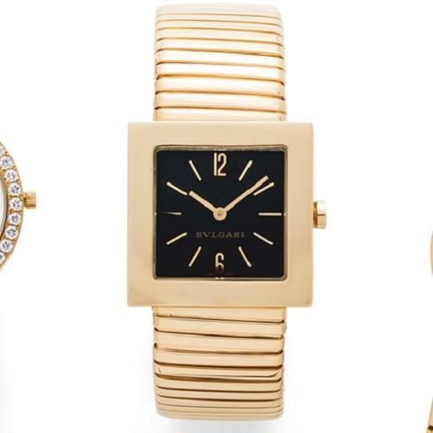 48ce05aaa20 Bulgari. A lady s 18K gold quartz bracelet watch