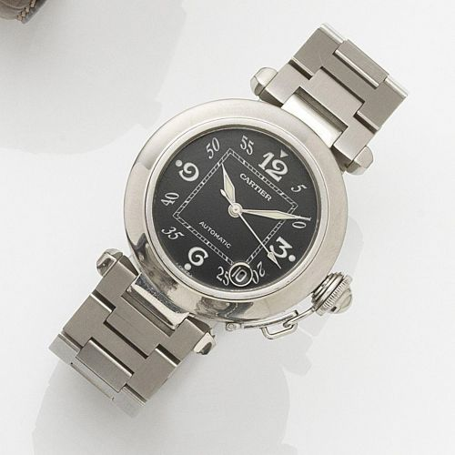 afde91335b0a7 Cartier, Pasha - Automatic, case No. PB27948, Ref. 2324..Made circa  2005..Fine, center seconds, self-winding, water-resistant.stainless steel  wristwatch ...