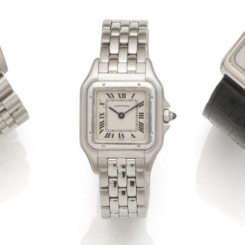 7b12366cd155 Cartier. A lady s stainless steel quartz bracelet watch