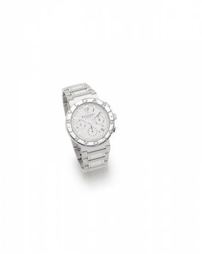 Bvlgari. A stainless steel automatic calendar chronograph bracelet watch 2ec1ae9d12f