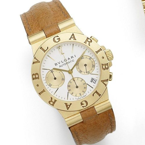 Bulgari. An 18K gold automatic calendar chronograph wristwatch 076b0ff038b