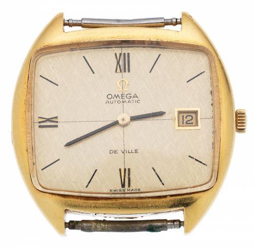 a9c2887428 Omega. An 18K gold automatic calendar watch