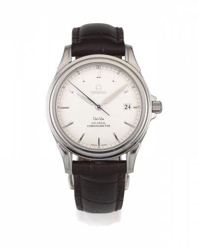 2d2654f4f9 Omega. A stainless steel automatic calendar wristwatch with co-axial  escapement