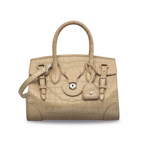 2fe1763690f1 A MATTE BEIGE ALLIGATOR SOFT RICKY 27 WITH SILVER HARDWARE