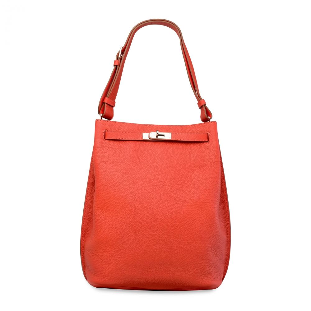 88b836ff6396 A BOUGAINVILLIER CLÉMENCE LEATHER SO KELLY 26 WITH PALLADIUM HARDWARE  HERMÈS