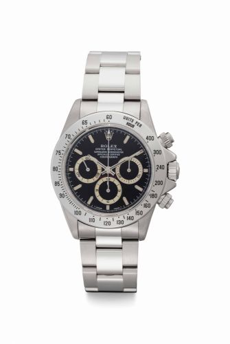 5bf810bf1af Rolex. A Fine Stainless Steel Automatic Chronograph Wristwatch with    Tropical   Chapter Rings