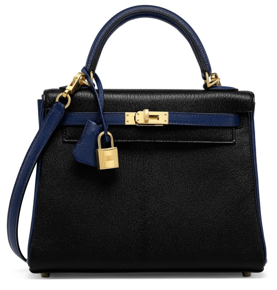 735b6026ef3d A CUSTOM BLACK   BLEU DE GALICE CHÈVRE LEATHER RETOURNÉ KELLY 25 WITH  BRUSHED GOLD HARDWARE HERMÈS