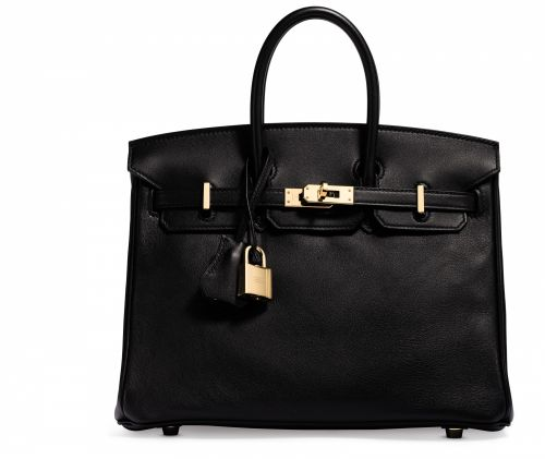 863977a044 A BLACK SWIFT LEATHER BIRKIN 25 WITH GOLD HARDWARE