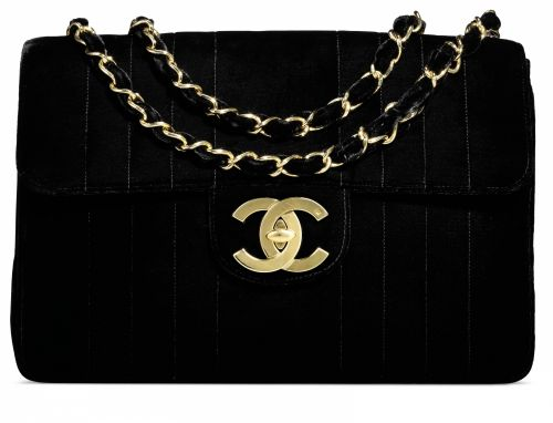 48a2c095fdff A BLACK VELVET VERTICAL QUILTED JUMBO SINGLE FLAP BAG WITH GOLD HARDWARE
