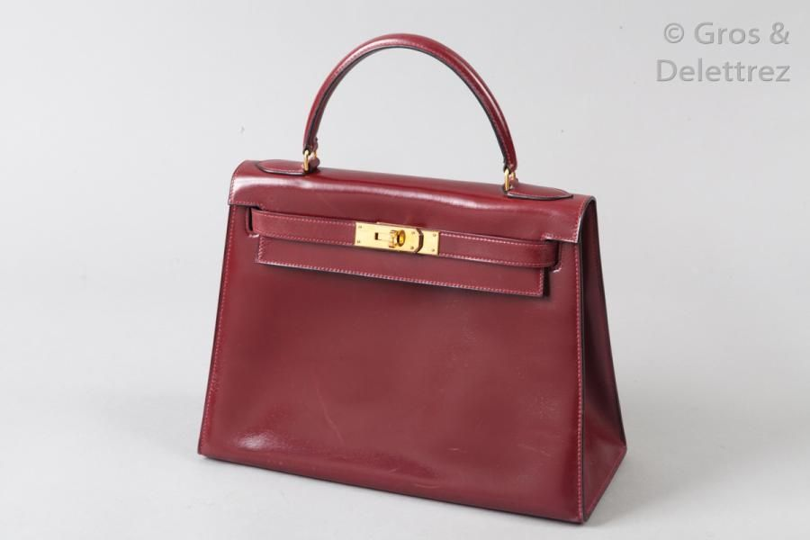 577d3e69e5 HERMÈS Paris made in France année 1980. Description : Sac «Kelly Sellier»  29cm en box ...