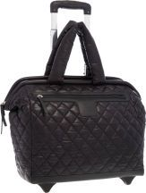 262fb6d63ace98 Chanel Black Quilted Nylon Coco Cocoon Trolley Travel Bag with.Silver  Hardware.