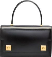 Hermes Black Calf Box Leather Sac Piano Bag with Gold Hardware..J Circle,  1980. Excellent Condition. 10 Width x.6. f9fb573dff3