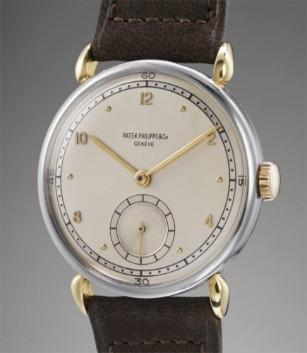 2b579c44a4c Patek Philippe Follow Ref. 1503 2 A rare and very attractive stainless  steel and 18K gold wristwatch with two-tone silver dial