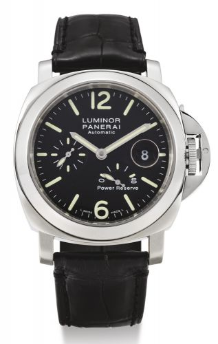 ad6d66ca4ee3c Panerai.A STAINLESS STEEL CUSHION-FORM AUTOMATIC WRISTWATCH WITH DATE AND POWER  RESERVE INDICATION PAM00090 NO I1251 2500 LUMINOR POWER RESERVE AUTOMATIC  ...