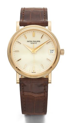 d2522aee342 Patek Philippe A PINK GOLD AUTOMATIC WRISTWATCH WITH CENTRE SECONDS AND  DATE REF 3802 200 MVT 3006299 CASE 4025026 MADE IN 1998