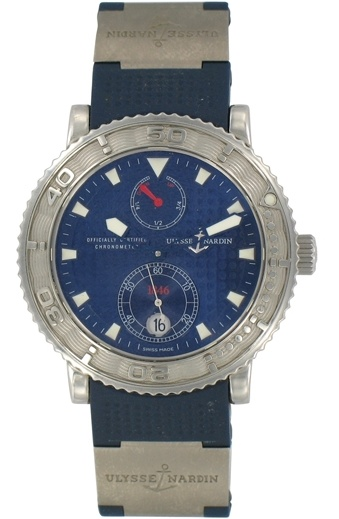 montres ulysse nardin maxi marine chronometer prix de l 39 occasion et des ench res. Black Bedroom Furniture Sets. Home Design Ideas