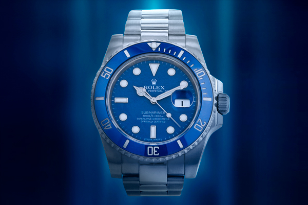 Watches in blue